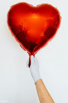 Gloved hand holding a red heart shaped balloon | free image by rawpixel.com / Karolina / Kaboompics Hand Holding, Holding Hands, Studio Shoot, Free Photos, How To Stay Healthy, Royalty Free Images, Amazing Photography, Heart Shapes, Hold On