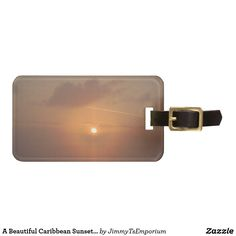 Want to see more items?  Please visit my Zazzle store at http://www.zazzle.com/jimmytsemporium  My wife and I love to go on cruises.  We have done several cruises since 2008.  On our first cruise together, we were on our balcony, and treated to this beautiful Caribbean sunset.