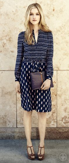 Tory Burch Judi Dress. I wouldn't look good in this, but it's pretty. Love the shoes.