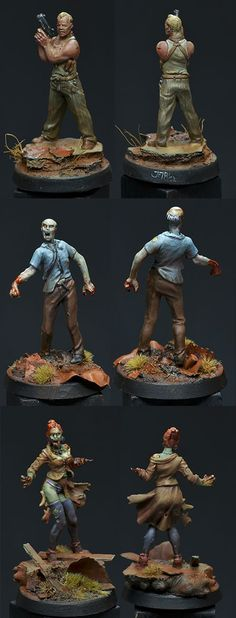 ZOMBICIDE - 3 gaming figures