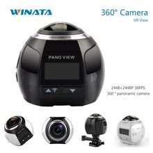 360 Camera Ultra HD 4K Panoramic Camera Build in WI-FI 360 Degree Video Camera Waterproof Sport & Action Driving VR Camera