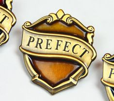 New Hufflepuff Hogwarts Prefect Badge  Harry by KingsCrossStation