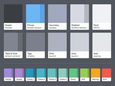OpenTable Guest Center color palette