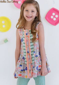 Happy and Free, Spring 2016: Lavender Lollipop Tunic and BonBon Bennys