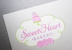 Sweet Heart Bakery    #logo #design #bakery #cake #cupcake #heart