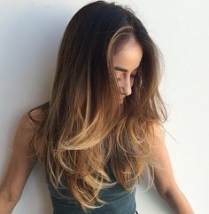long layers + beach waves / #long #hairstyles