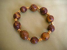 bracelet savanne fimo de elisabijoux sur DaWanda.com