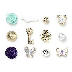 Mix and Match Stud Earrings Set of 12