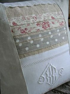 Love the combination of hessian, flowers, spots, linen, lace ....