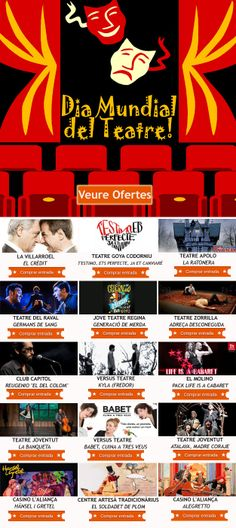 Gaudeix del Dia Mundial del Teatro amb tots aquests descomptes! Win Money, Slot Online, Movie Posters, Film Poster, Billboard, Film Posters