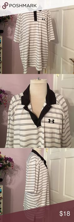 Men's XL under armour gulf shirt Black-and-white perfect condition men's extra-large shirt Under Armour Tops