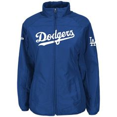 Los Angeles Dodgers Majestic MLB Womens Double Climate Jacket (Dark Royal)