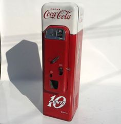 A Rare Coca Cola Vendo 44 Soda Machine in Original Paint