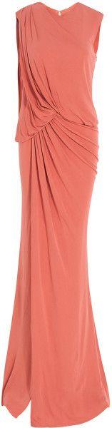 Sleeveless Long Jersey Gown - Lyst