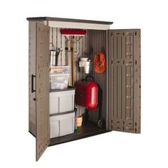 Rubbermaid Big Max 2 Ft. 3 In. X 4 Ft. 3 In. Large Vertical Resin Storage  Shed 1887156   The Home Depot