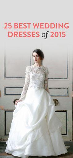 25 best wedding dresses of 2015
