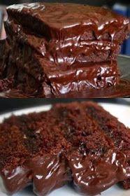 ΜΑΓΕΙΡΙΚΗ ΚΑΙ ΣΥΝΤΑΓΕΣ: Σοκολατόπιτα πανεύκολη !!! Cookbook Recipes, Cake Recipes, Cooking Recipes, Greek Recipes, Sweet Treats, Sweets, Cookies, Chocolate, Cream