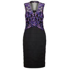 Buy Alexon Lace Ottoman Dress, Purple Online at johnlewis.com