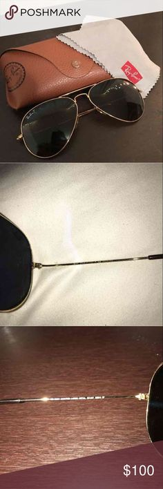 Ray Ban Aviators Brand New Authentic Ray Ban aviators. Used once. ZERO scratches or sign of use. Ray-Ban Accessories Sunglasses
