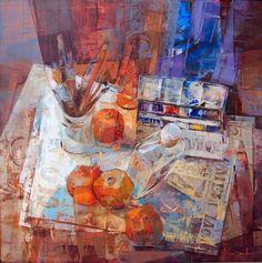 Alfonso Cuñado: goods_for_art — LiveJournal Painting Still Life, Still Life Art, Oil Painting Texture, Painting & Drawing, Colorful Drawings, Art Drawings, Cool Paintings, Contemporary Paintings, Watercolor Illustration