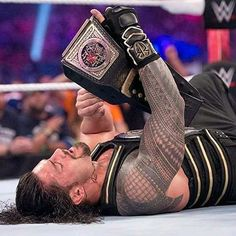 """75 Likes, 1 Comments - Roman Reigns (@wwe_roman_79) on Instagram: """"Nothing like winning the @WWE World Heavyweight championship at WWE #WrestleMania!  #RomanEmpire…"""""""