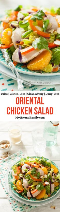 Paleo Chinese Chicken Salad Recipe {Paleo, Gluten-Free, Clean Eating, Dairy-Free} - I've made this salad lots of times. I love how it's healthy and light and fresh.