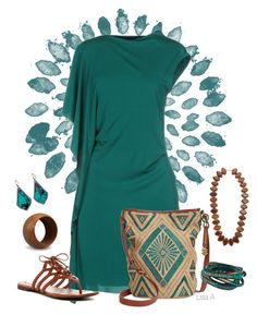 """""""Teal We Meet Again"""" by labond ❤ liked on Polyvore featuring Plein Sud, Lucky Brand, Kenneth Jay Lane, NOVICA, Kendra Scott and Cole Haan"""