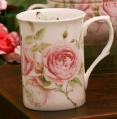 Beau Rose Mugs - Set of 4 Beau Rose Bone China Teapot