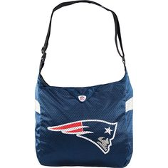 Littlearth Team Jersey Shoulder Bag - NFL Teams - New England Patriots... ($26) ❤ liked on Polyvore featuring bags, handbags, shoulder bags, blue, fabric handbags, purse shoulder bag, blue purse, white jersey, handbag purse and white shoulder handbags