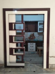 new latest partition gate design ,morden partition design gallery Glass Partition Designs, Living Room Partition Design, Pooja Room Door Design, Living Room Tv Unit Designs, Wardrobe Design Bedroom, Bedroom Bed Design, Bedroom Furniture Design, Tv Cupboard Design, Lcd Panel Design