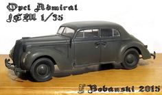 Opel Admiral (It´s Admiral Saloon from ICM in 1/35 scale. I built it OOTB.)