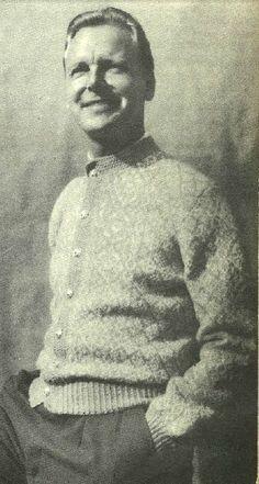 Vossakofte i lyseblått og hvitt. Fra Kofteboka 1953. Hand Knitting, Knitting Patterns, Norwegian Knitting, Risky Business, How To Start Knitting, Knit Crochet, Men Sweater, Traditional, Knit Patterns