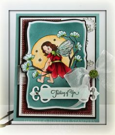 In the Moonlight card designed by Beate Johns