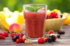 Yummy Smoothies, Fruit Salad, Panna Cotta, Detox, Strawberry, Pudding, Ethnic Recipes, Fitness, Desserts