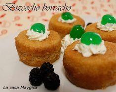 Bizcocho borracho - La Casa Maygica Sweet Recipes, Muffin, Breakfast, Food, Tinkerbell, Homemade Tortillas, Sweet Desserts, Dessert Recipes, Pastries