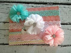 ballerina headband set, baby headband, newborn headband, photo props, headbands via Etsy