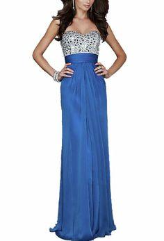 Classy chick sparkle prom gown:)