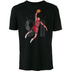 Nike Air Jordan 6 91 T-shirt ($39) ❤ liked on Polyvore featuring men's fashion, men's clothing, men's shirts, men's t-shirts, black, mens short sleeve t shirts, mens cotton shirts, nike mens shirts, colorful mens dress shirts and mens short sleeve shirts
