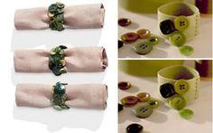 Artesanato com amor...by Lu Guimarães: Faça anéis para guardanapos usando botões