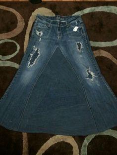 Jean skirt Jeans Skirt #2dayslook #susan257892 #JeansSkirt www.2dayslook.com