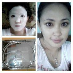 Makin kinclong menggunakan Crystal Collagen Nayaskin Mask Whitening