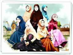 ♡★ Girl Cartoon, Cute Cartoon, Cartoon Art, Best Profile Pictures, Best Friend Pictures, Hijab Anime, Hijab Dp, Hijab Drawing, Best Friend Drawings