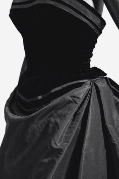 Pierre Balmain Haute couture, 1955 Model 'Berlin', a silk faille and velvet dance dress