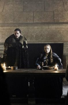 Jon and Sansa at Game of Thrones 6.10 'Winds of Winter' x