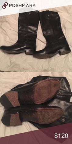 Frye Melissa Button Boot Tall Frye Melissa Button Boot. Comfortable!  Nice boots!  Wore a hand full of times. Frye Shoes Heeled Boots