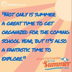 Summer Learning tips