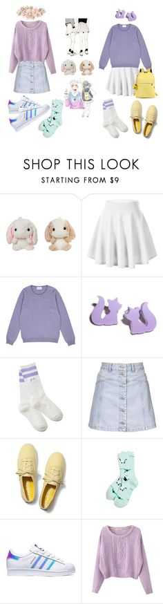"""Kawaii Twins"" by briannamvillarreal ❤ liked on Polyvore featuring Kipling, Topshop, Keds, Richer Poorer, adidas, Chicnova Fashion, Accessorize, girly, kawaii and pastels"