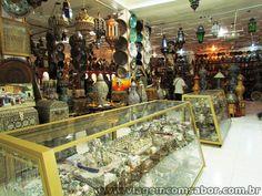 Lojas de souveniers na Medina em Tanger - Marrocos - Viagem com Sabor