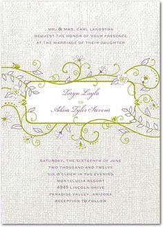 Natural Green Wedding Invitations
