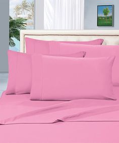 Light Pink Wrinkle-Resistant Sheet Set